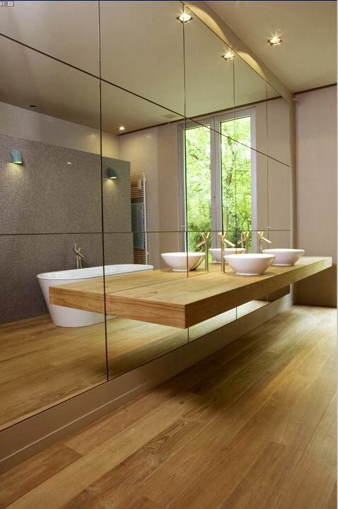 Bathroom ideas our metricon hudson for Shattered mirror bathroom floor