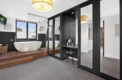 Bathroom our metricon hudson for Ensuite dressing room ideas