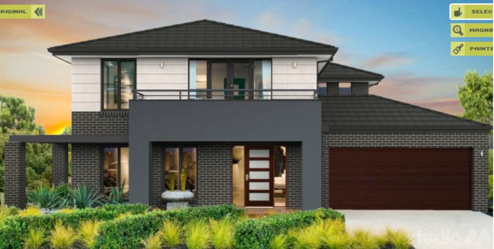 Home Front Elevation Colour : Colour our metricon hudson
