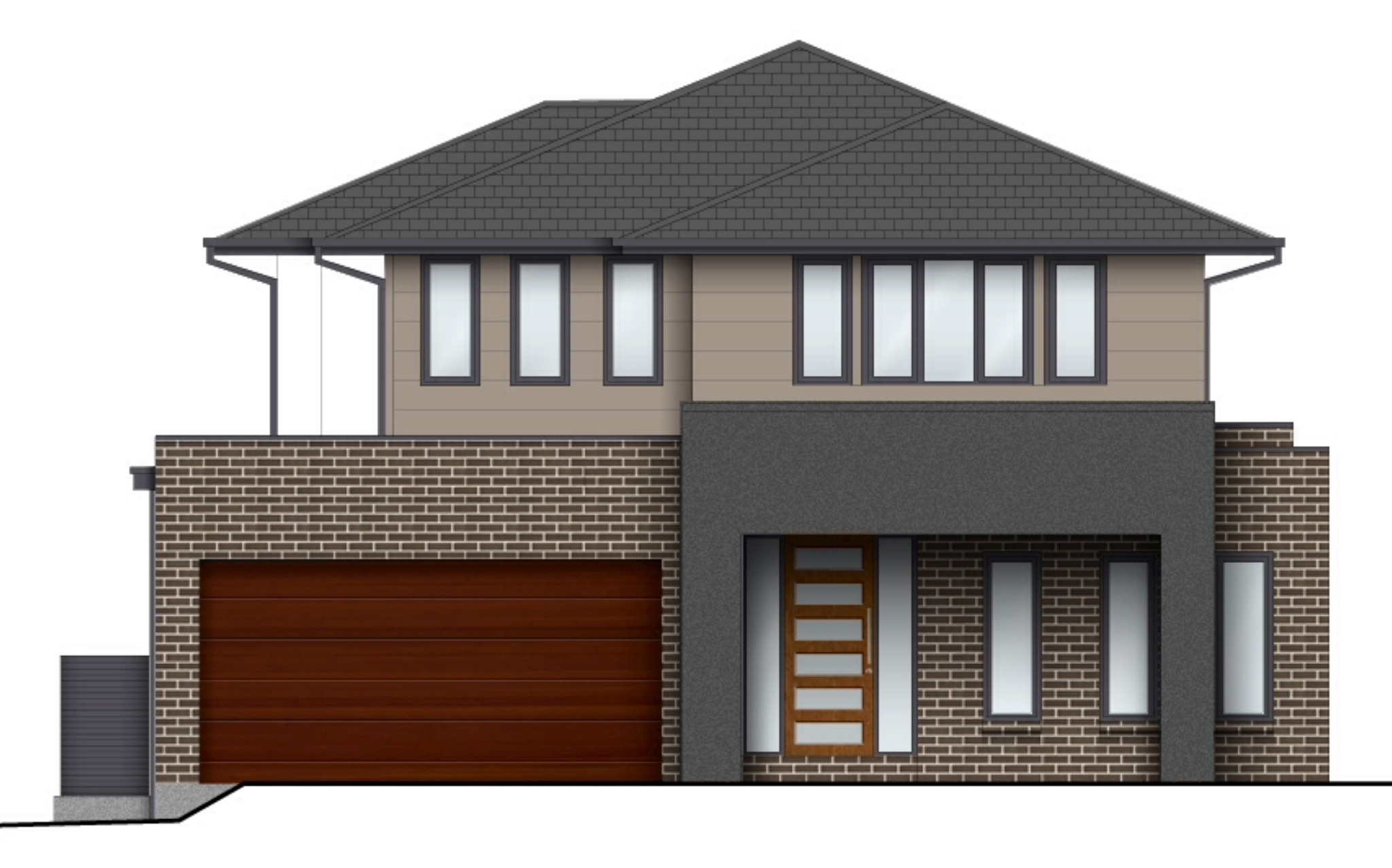 Front Elevation Of House Without Balcony : External colours our metricon hudson
