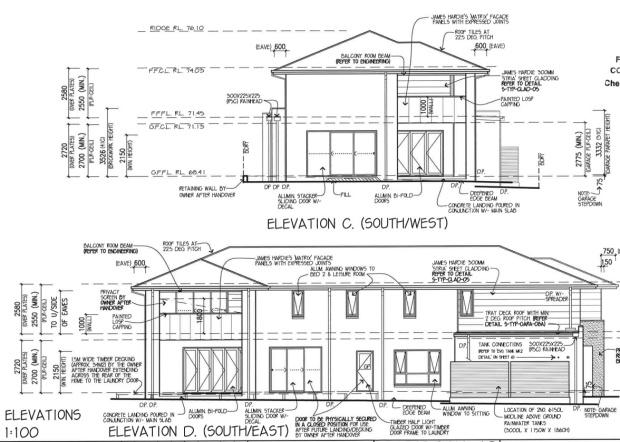 Hudson Elevation Plans