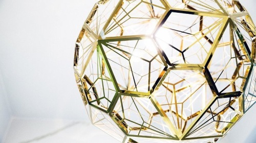 Tom Dixon 'Etch Web Brass'